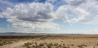 Eine sehr große Reihen-Szene im New Mexiko Stockfotos