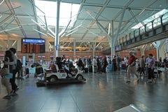 Eine Seite des internationalen Flughafens Vancouvers Lizenzfreie Stockfotografie