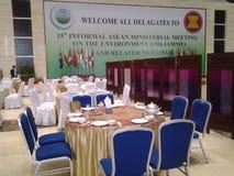 Eine Seite Konferenzzimmer stockbild