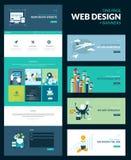 Eine Seitenwebsite-Designschablone Stockfotos