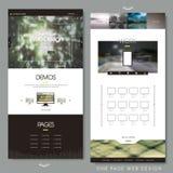 Eine Seitenwebsite-Designschablone Lizenzfreie Stockfotografie