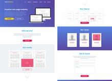 Eine Seitenwebsite-Designschablone Lizenzfreie Stockfotos