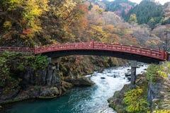 Eine Shinkyo-Brücke Stockfotos