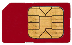 Eine Sim Karte lizenzfreie stockfotos