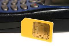 Eine SIM Karte Lizenzfreies Stockbild
