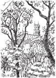 Eine Skizze des Schlosses Stockfotografie