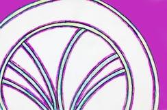 Eine Skizze von zwei Halbrunden verbunden durch gekrümmte Linien vektor abbildung