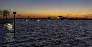 Eine Sonnenuntergangansicht Stockfotografie
