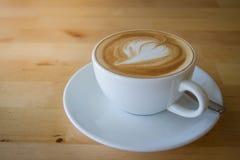 Eine späte Kunst des Tasse Kaffees Lizenzfreie Stockbilder