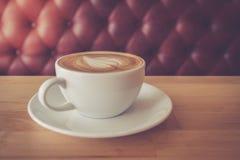 Eine späte Kunst des Tasse Kaffees Lizenzfreies Stockbild