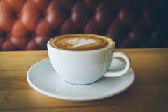 Eine späte Kunst des Tasse Kaffees Stockfotos