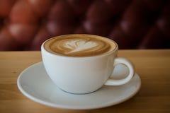 Eine späte Kunst des Tasse Kaffees Lizenzfreie Stockfotografie