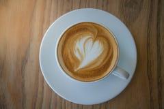 Eine späte Kunst des Tasse Kaffees Lizenzfreies Stockfoto