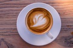 Eine späte Kunst des Tasse Kaffees Lizenzfreie Stockfotos