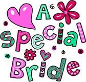 Eine spezielle Braut lizenzfreie abbildung