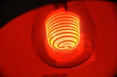 Eine spezielle rote Glühlampe Stockbild