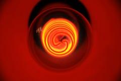 Eine spezielle rote Glühlampe Stockbilder
