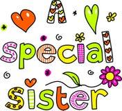 Eine spezielle Schwester lizenzfreie abbildung