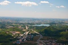 Eine Stadt in der Ebene Lizenzfreies Stockbild