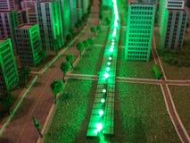 Eine Stadt in der Miniatur Stockbilder