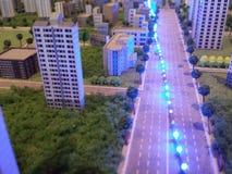 Eine Stadt in der Miniatur Lizenzfreies Stockfoto