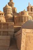 Eine Stadt errichtet vom Sand Stockbild