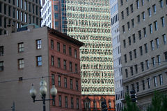 Eine Stadt von Windows Stockfoto