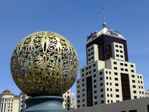 Eine Stadtansicht in Astana lizenzfreie stockfotografie
