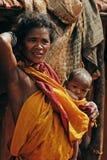 Eine Stammes- Frau von Orissa-Indien. Stockbild