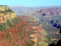Grand- CanyonNationalparkansicht von der Spur lizenzfreie stockbilder