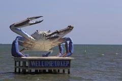 Eine Statue der riesigen Krabbe Lizenzfreie Stockfotos