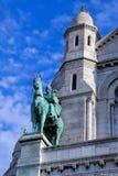 Eine Statue des Königs Louis Stockbild