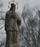 Eine Statue eines Heiligen Stockbild