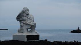 Eine Statue von Hrafna-Fló ki Vilgerdarson in Viking World Museum stockbild