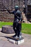 Eine Statue von Julius Caesar nahe Turm-Hügelu-bahnstation und London-Wand, London, Vereinigtes Königreich Stockfotografie