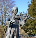 Eine Statue von Mozart Stockfotos