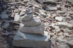 Eine Statue von Steinen Lizenzfreie Stockfotografie