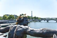 Eine Statur in Paris. Lizenzfreie Stockfotografie