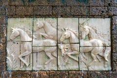 Eine Steinstatue Lizenzfreies Stockfoto