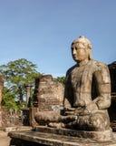 Eine Steinstatue von Lord Buddha Lizenzfreies Stockfoto