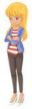 Eine Stellung der jungen Frau Lizenzfreie Stockbilder