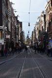 Eine Straße in Amsterdam stockfotografie