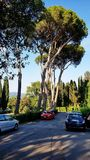 Eine Straße außerhalb San Miniato-Als Monte in Florenz, Italien stockfotografie