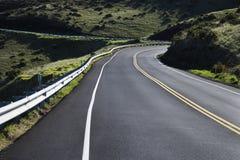 Eine Straße im Haleakala Park. lizenzfreie stockbilder