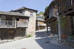 Eine Straße in Penalba De Santiago lizenzfreies stockbild