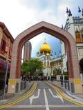 Eine Straße in Singapur Lizenzfreies Stockbild