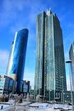 Eine Straßenansicht in Astana lizenzfreies stockbild