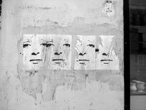 Eine Straßenkunst auf einer Wand in Kopenhagen stockfoto