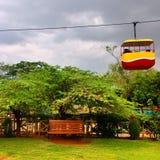 Eine Szene in einem Park Stockbild
