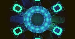 Eine Szene eines Kaleidoskops voll der Blaulichter stock abbildung
